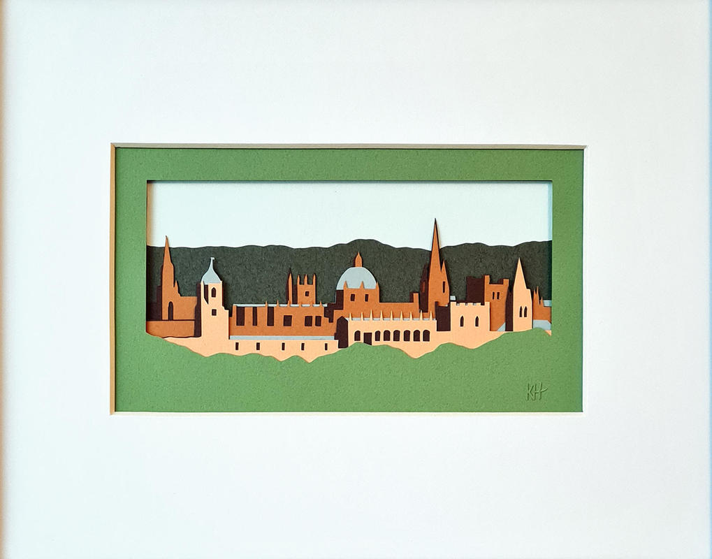 Kate Hipkiss Oxford Skyline, 20 x 25cm unframed, £135.00