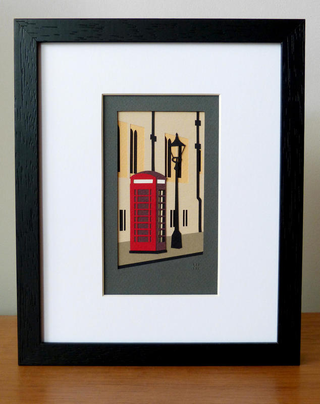Kate Hipkiss Phonebox, St Giles, 28x23cm framed, £145.00 SOLD