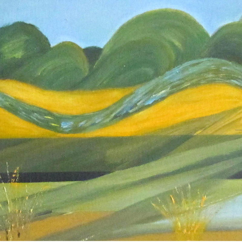 detail from Port Meadow Summer Abstract.jpg 30 x 80cm £280