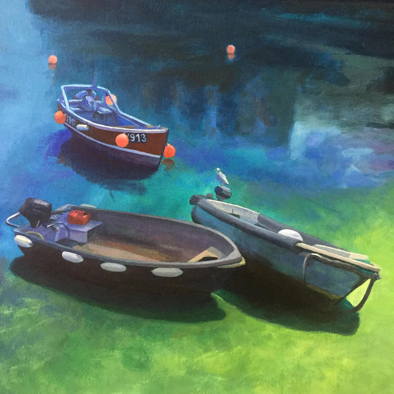 Mevagissey Boats - detail from a large painting I am currently working on.