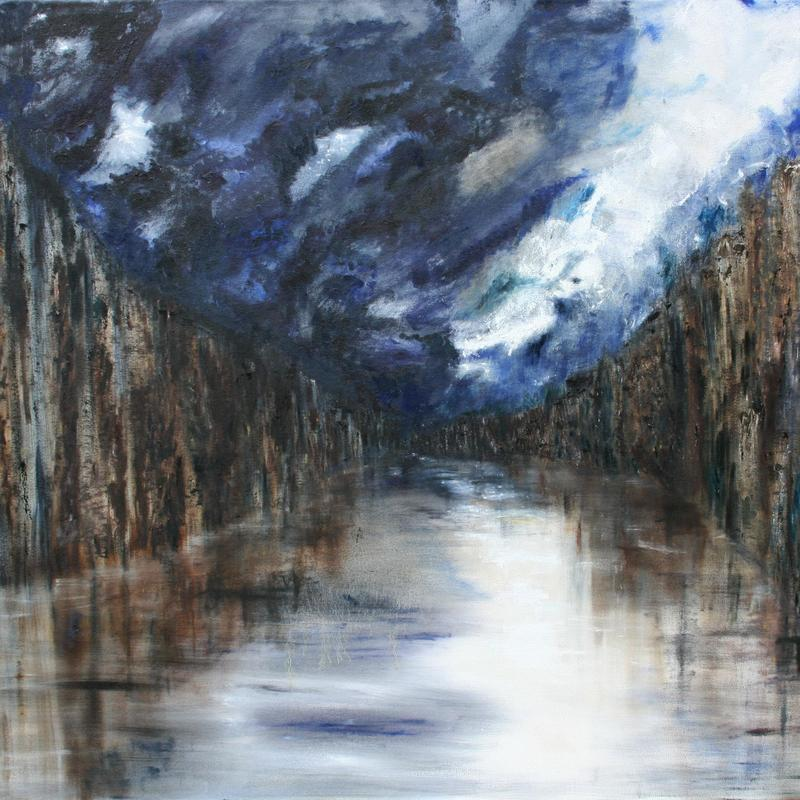 The River Beckons - £ 2,300 - 107H x 120W x 2D cm - Oil