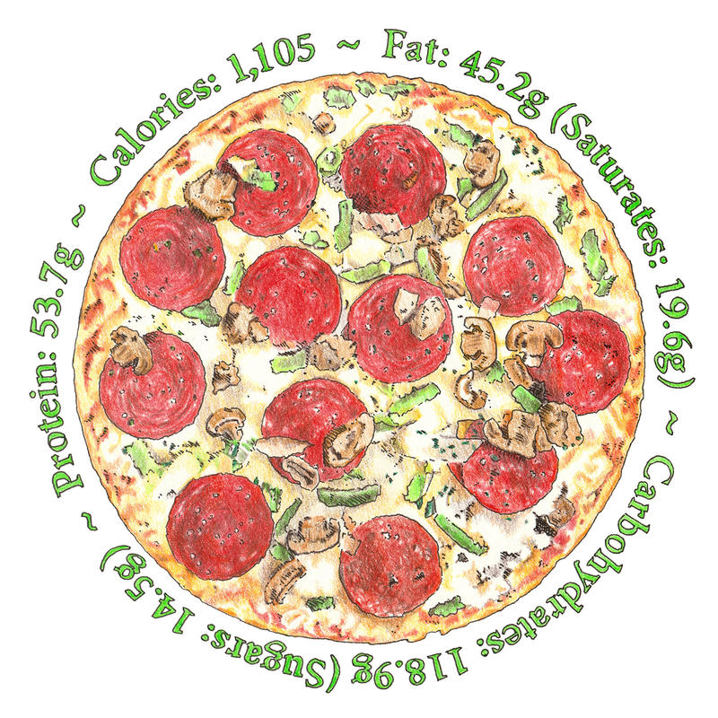 Pizza - image approx 190 mm diameter