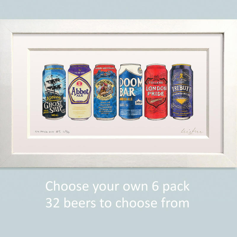 Sample six pack - 325 x 185 mm including mount