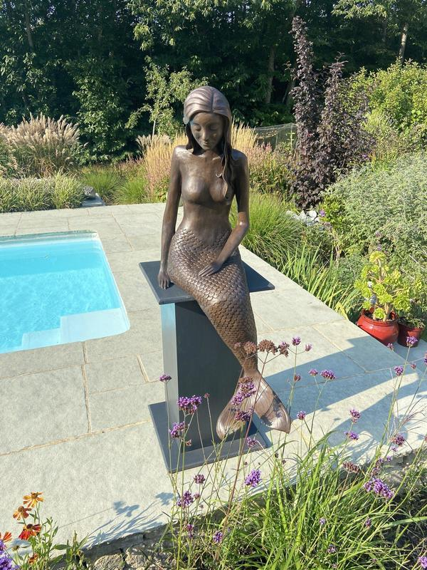 Mermaid Sculpture by Laura Jane Wylder
