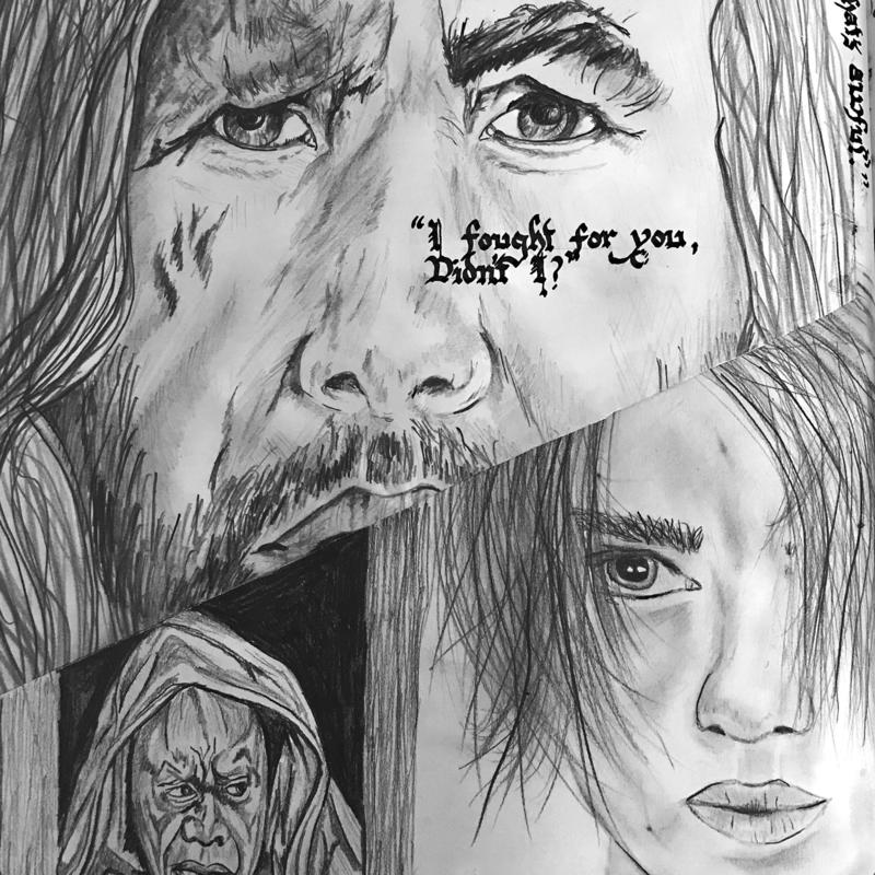 'I Fought For You', drawing