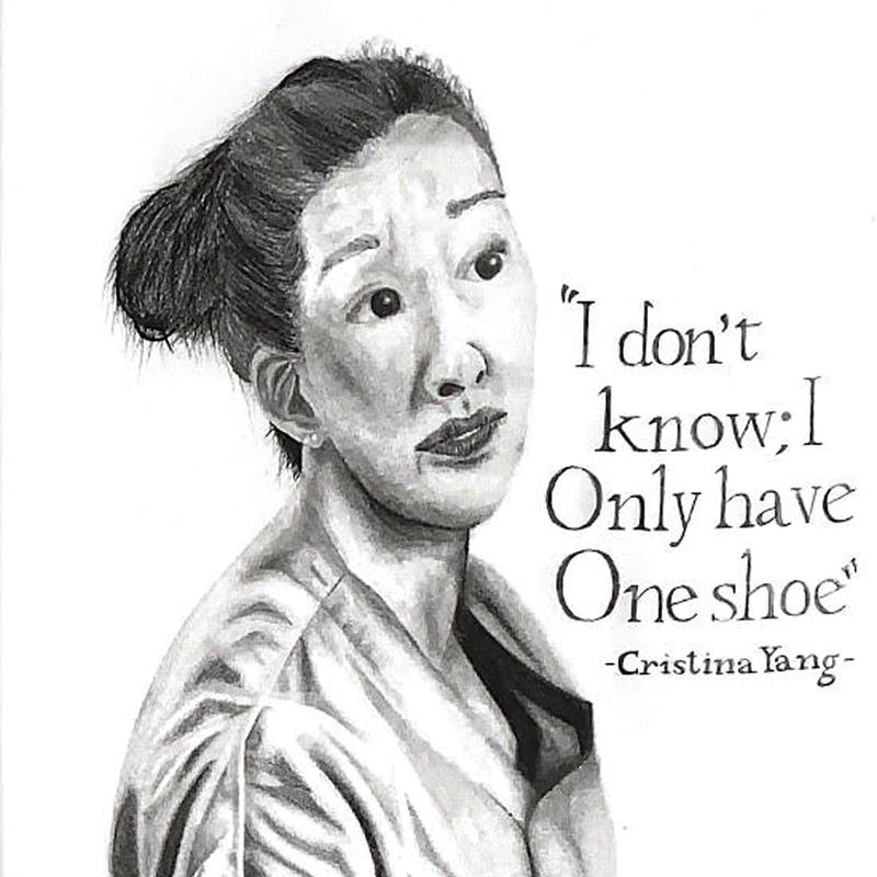 One Shoe, painting