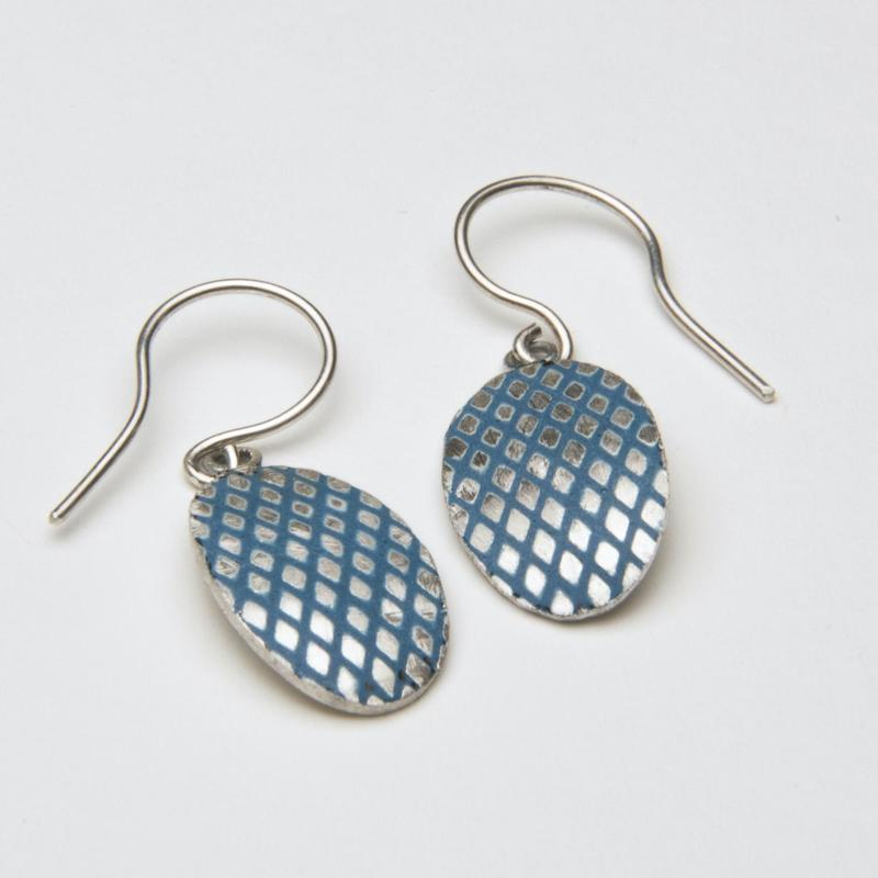 criss-cross enamel earrings £45