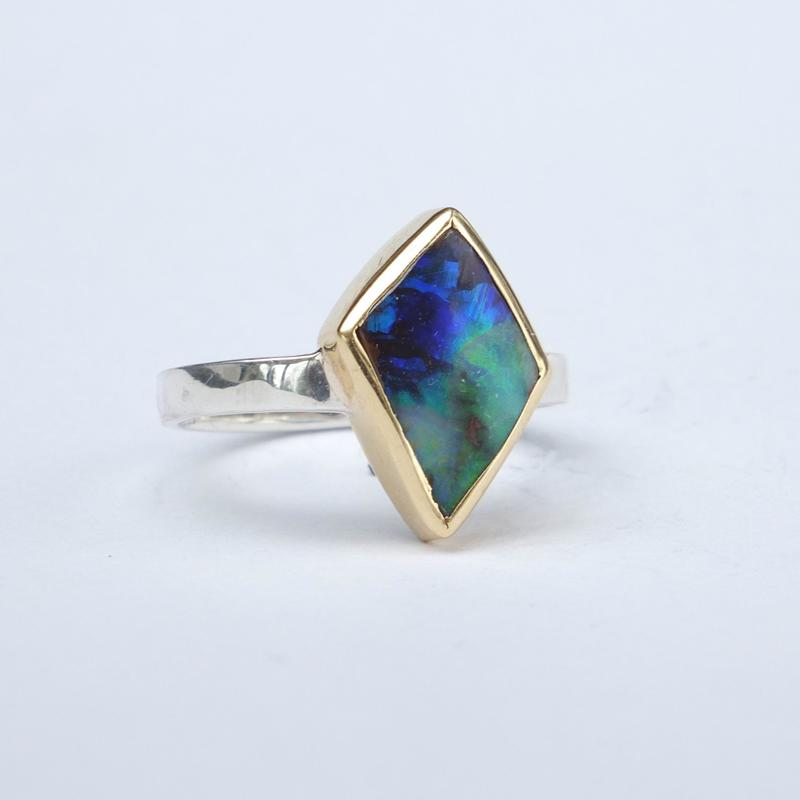opal and silver ring, set in 18ct gold £345