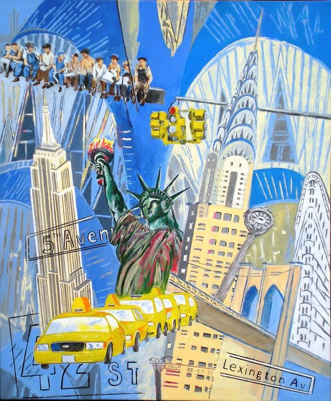 Art Deco New York  Acrylic on Canvas    NFS
