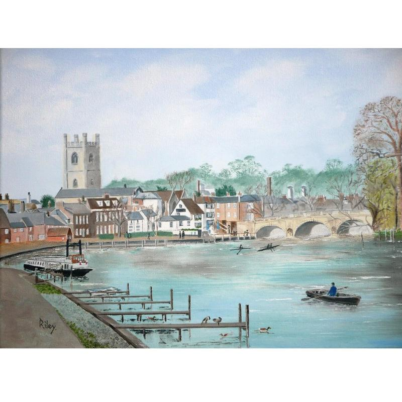 Henley on Thames Oil on Canvas 54 x 44cm framed