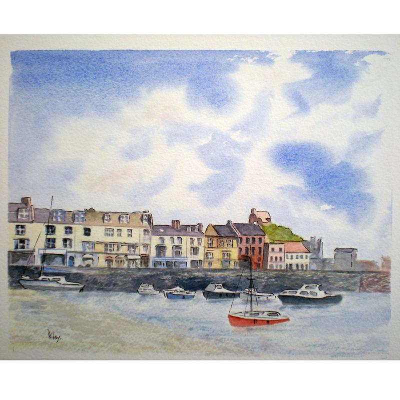 Ilfracombe, Devon Watercolour 54 x 44cm framed