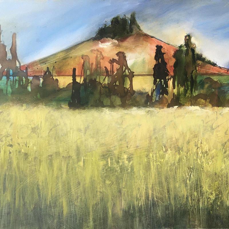 Autumn Wittenham Clumps - Detail. Original oil painting £850, framed