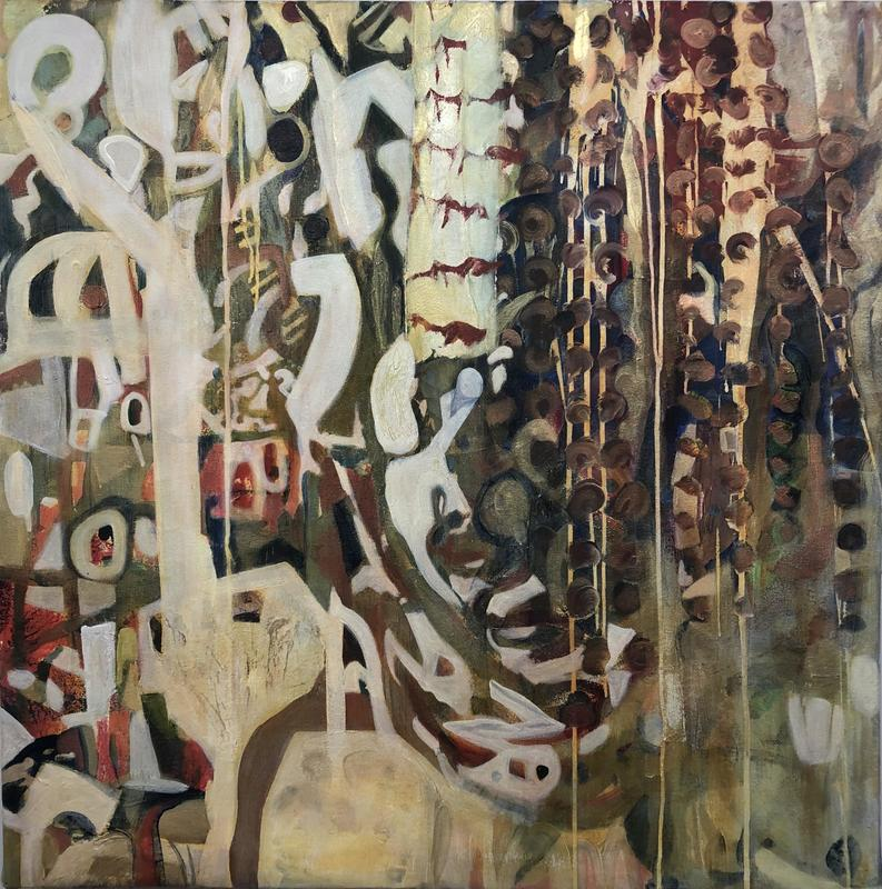 Arabian Brocade | acrylic on canvas | 100 x 100cm