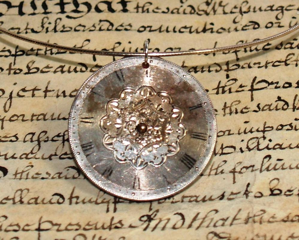 Early 19th Century Silver Watch Face Pendant on Silver Neckwire. £40.00