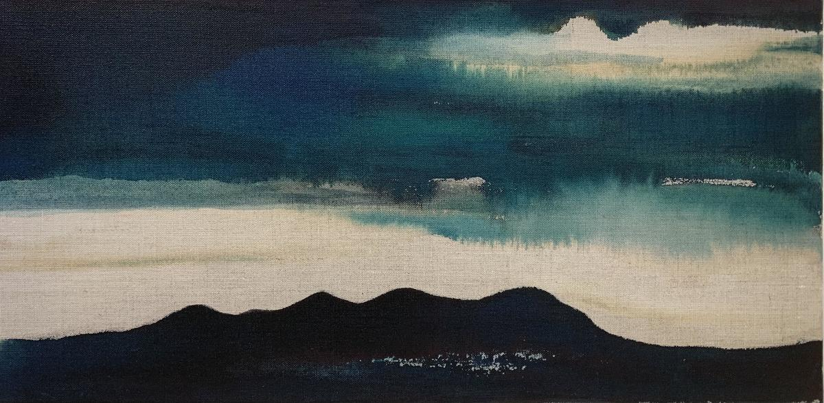 'Petrichor'. Oil and ink on canvas.