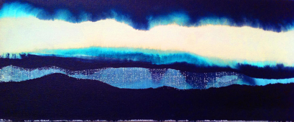 'Blue Light'. Iceland. Digital Giclee print from original Oil andd ink on canvas.