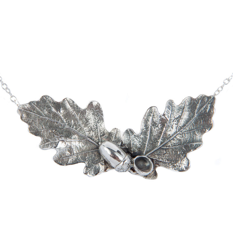 Oak and acorn necklace, silver £230