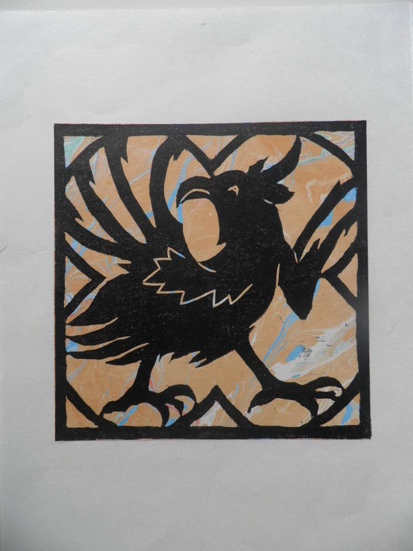 Griffin     woodcut
