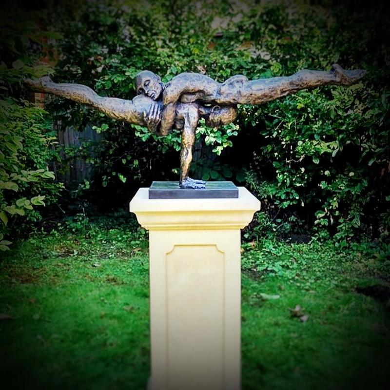 Cherish Those Who Hold Us Up. Available in bronze or bronze resin. Limited edition . Also available in life size and sideboard size.