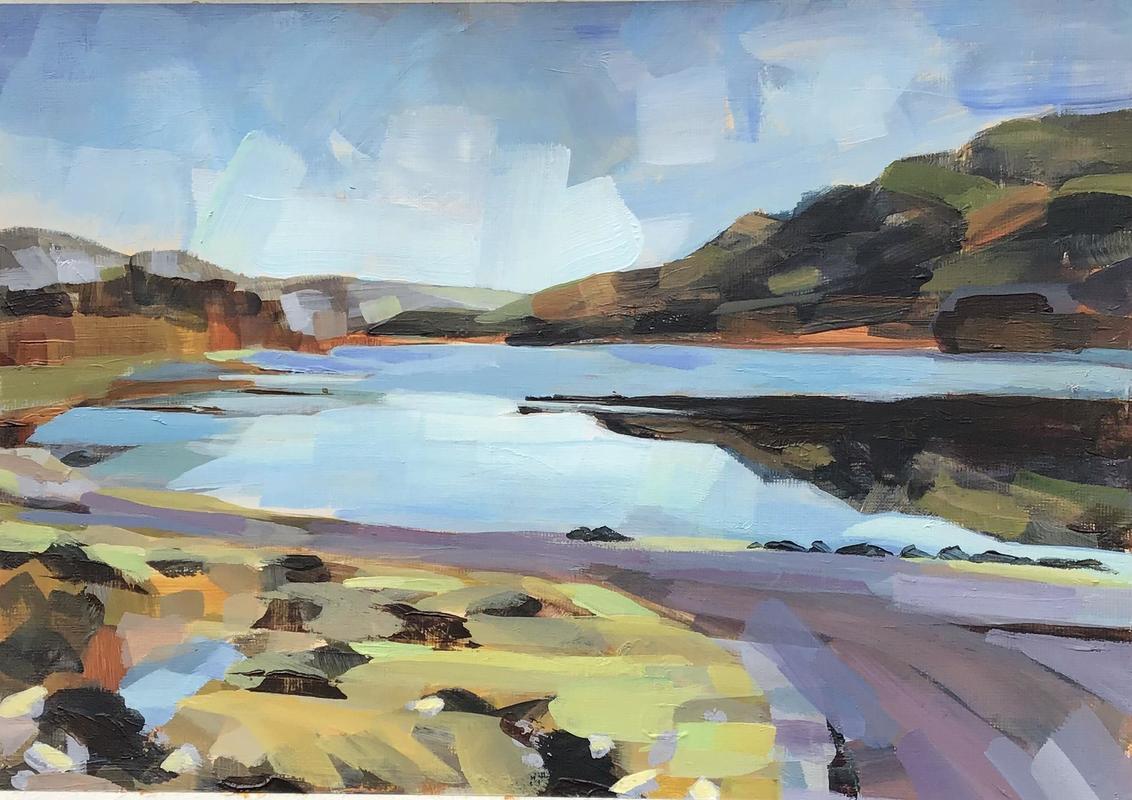 Loch Achall, acrylic