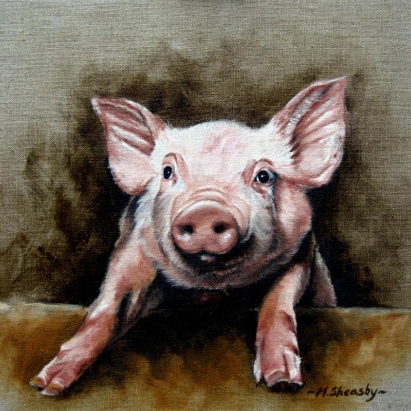 Piglet Painting