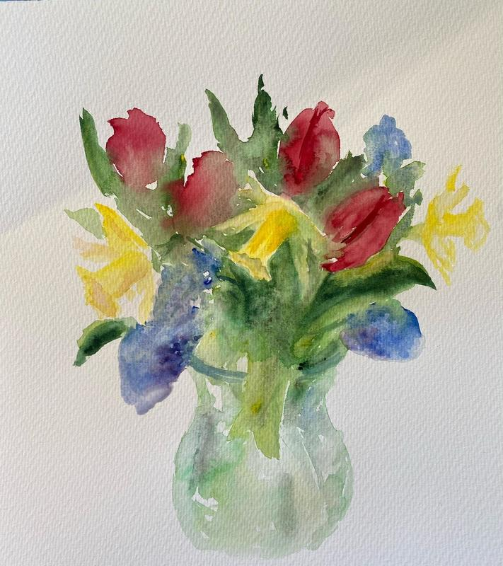Spring bouquet, watercolour, £195