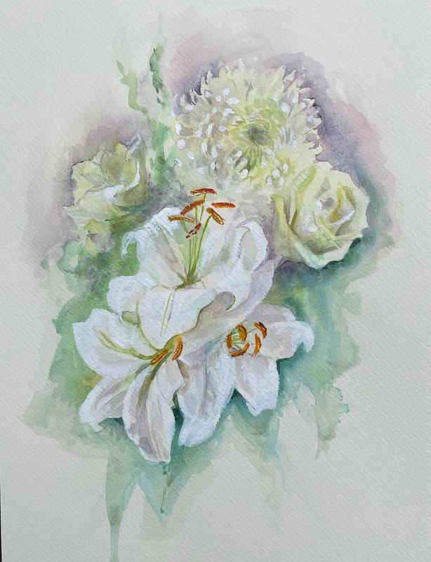 Mother's Day Bouquet, watercolour and gouache, £225