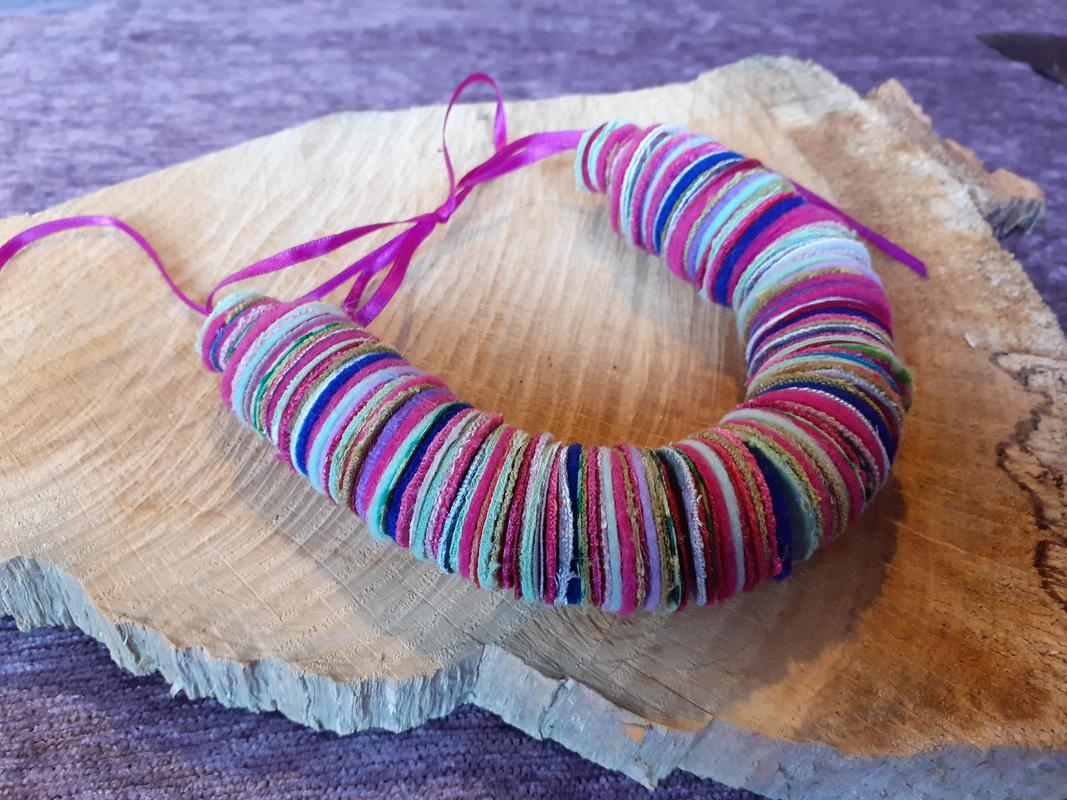 fabric coil necklace