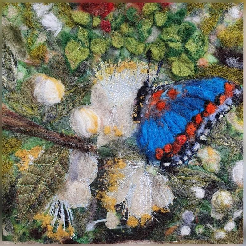 Karen Baum - Textile art - 'Painted' with hand dyed natural materials