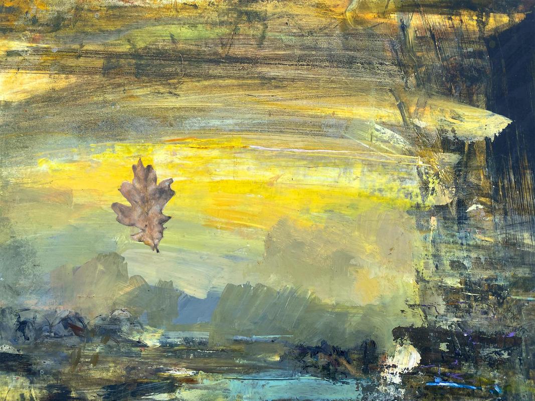 Fugitive Oak. 46 x 32 cm Acrylic paint on panel.