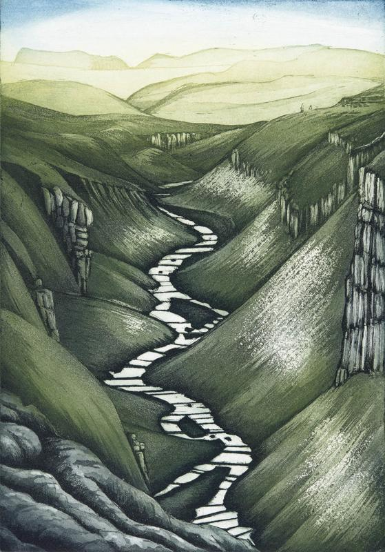 The stream that over time has created Goredale Scar in the Yorkshire Dales