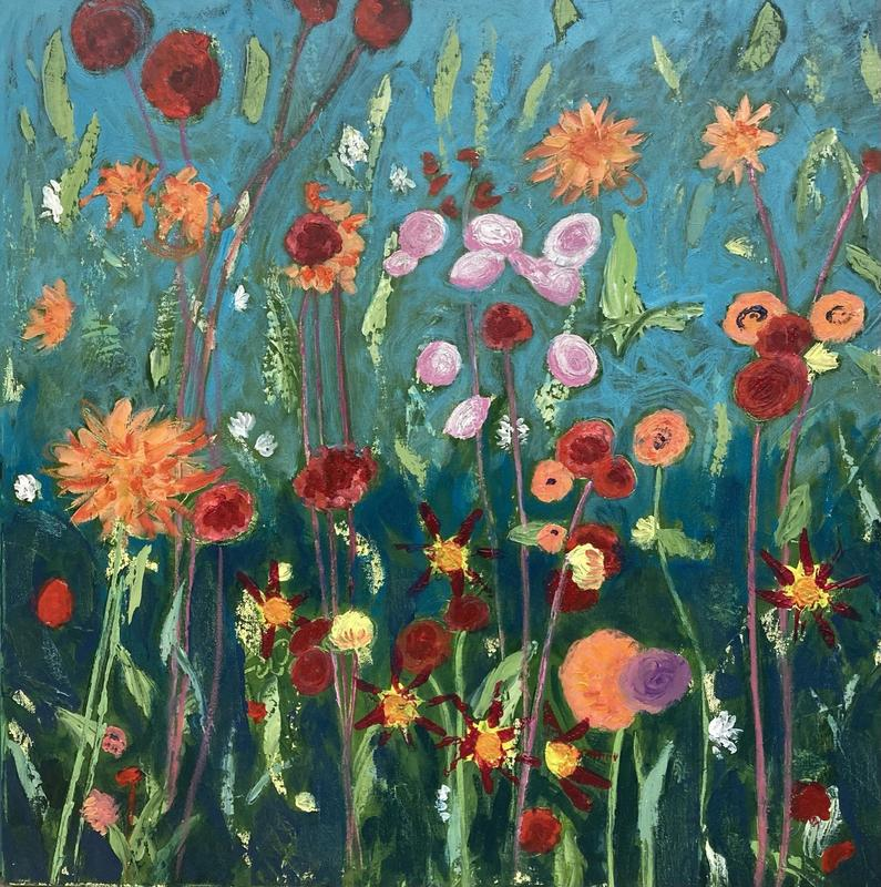 'The Twilight Garden 2'  Acrylic on Box Canvas £380