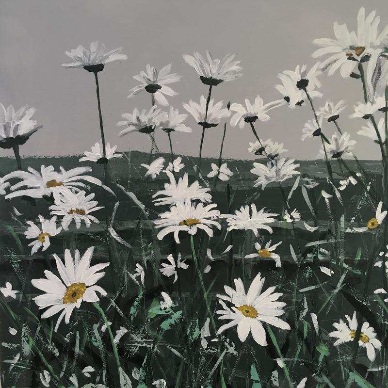 'Daisies' - Acrylic on  Box Canvas £175