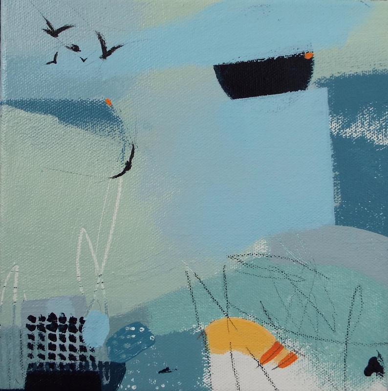 This is one of my mini bird paintings created in January 2021