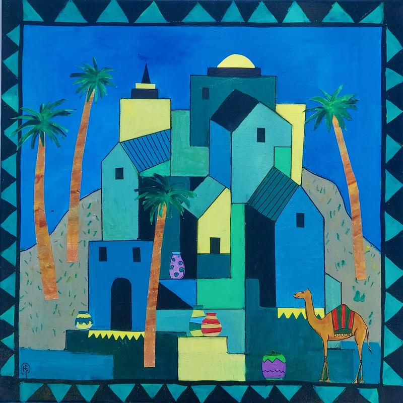 Alice the Camel Pays a Visit  Image 400x400 Framed 550x550 Price £275