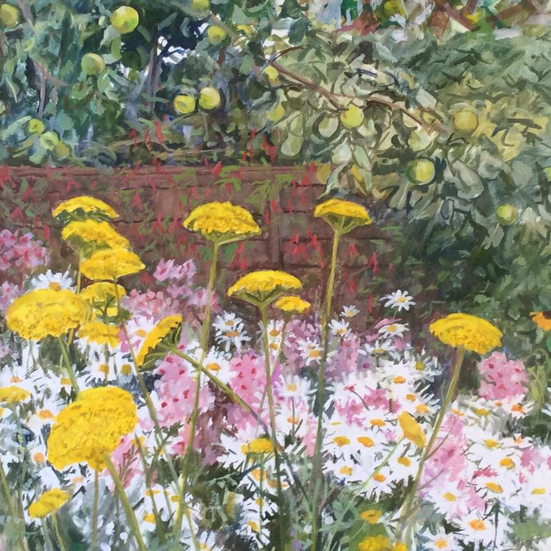 Summer garden (detail) 65x90cm oil £350