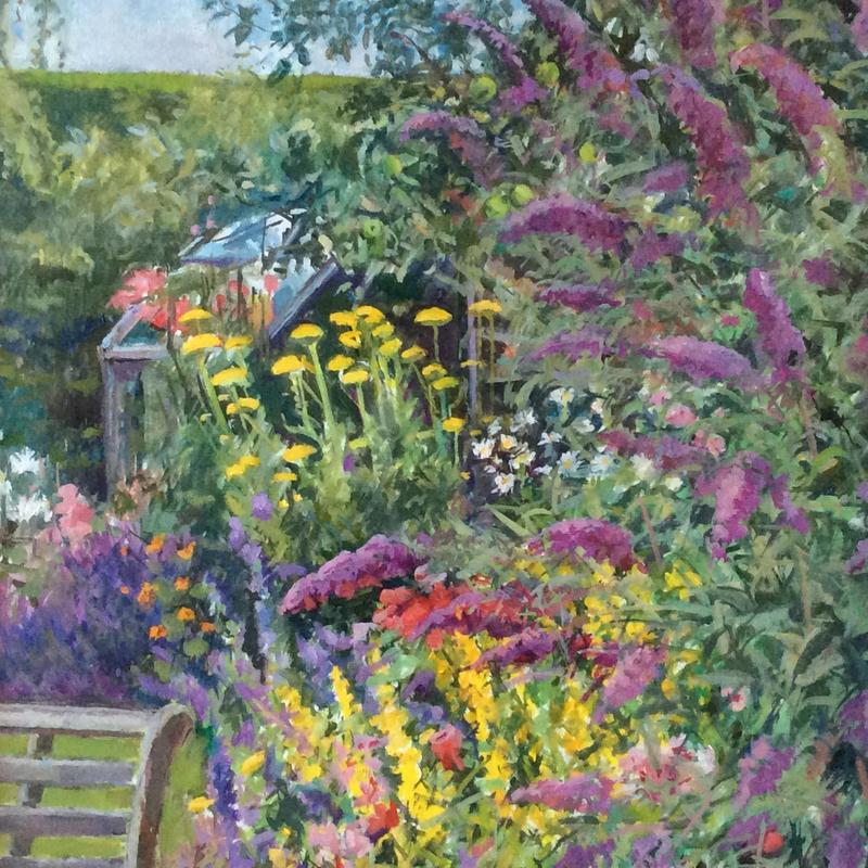 Garden Seat (detail) 65x90cm oil £350
