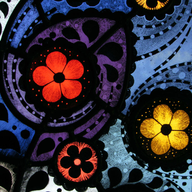 Stained Glass - Daisy Daisy exhibition panel