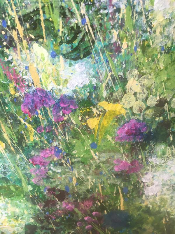 Detail from Flower Power: Acrylic on Canvas  1m x1m