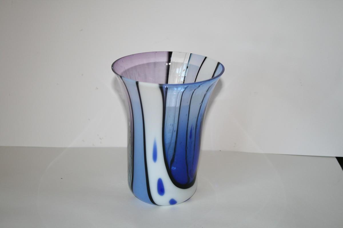 Blue vase 12cm wide 16cm high £25