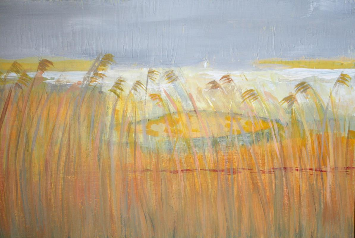 Ottmoor acrylic on canvas framed 46cm wide £50