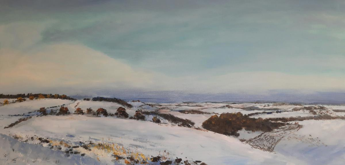 Snow on the Downs  40 cm x 80 cm  £ 220  SOLD
