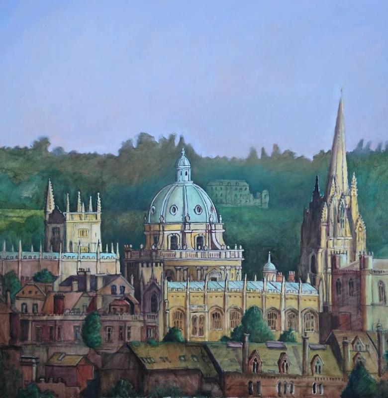 Raddcliff Camera, Oxford. 100cms square oil on canvas.