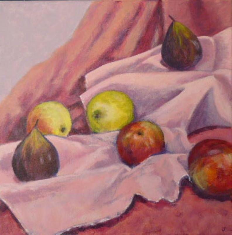 An exercise trying to use Cezanne's style 40 by 40cm