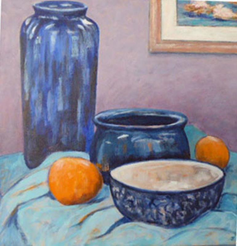 A nod to the Scottish colourists 40 by 40 cm