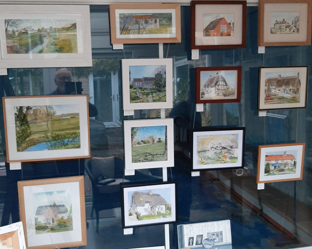In the first lock down we painted 14 watercolours of local scenes in Chalgrove