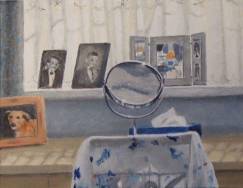 My dressing table in the afternoon 30 by 30cm