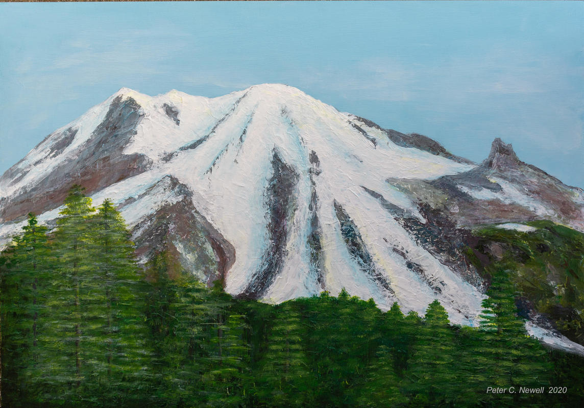 Mt Rainier, Washington State, USA (Acrylics using palette knives)