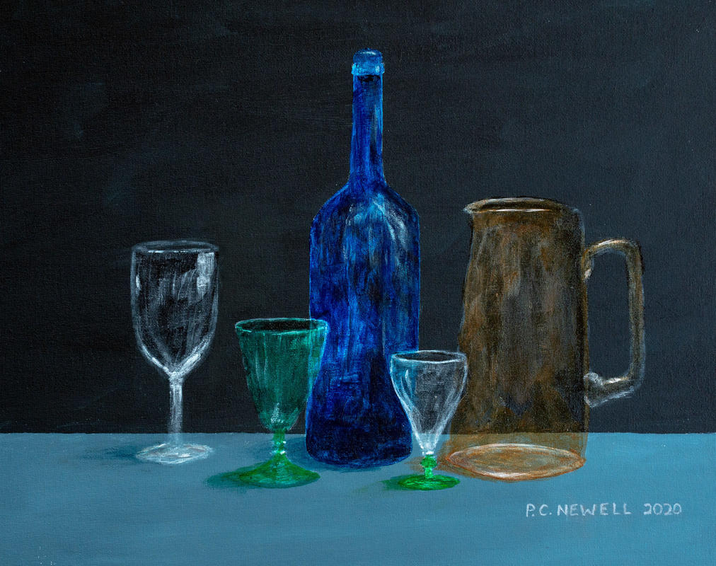 A study of glass (Acrylics)