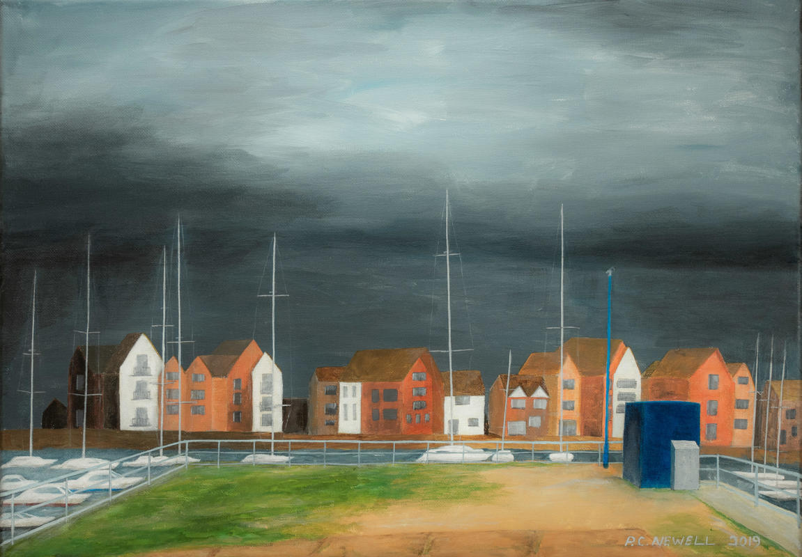 Impending storm, Eastbourne, UK (Acrylics)